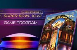 super bowl game program