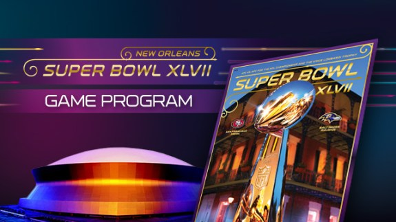 super bowl XLVII game program