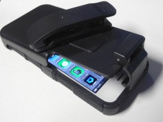 SEIDIO Active Case and Holster with phone being inserted into holster