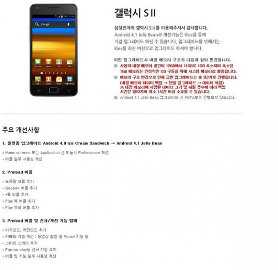 Galaxy S2 Jelly Bean Update Rolls Out Again, U S  Waits