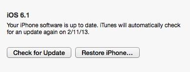 unjailbreak iOS 6.1 Step 2