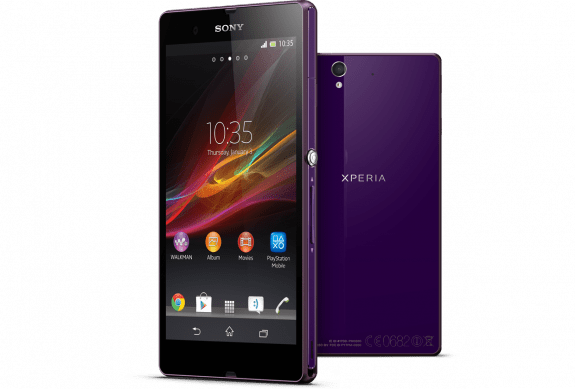 Sony offers the Xperia Z in more than just black and white.