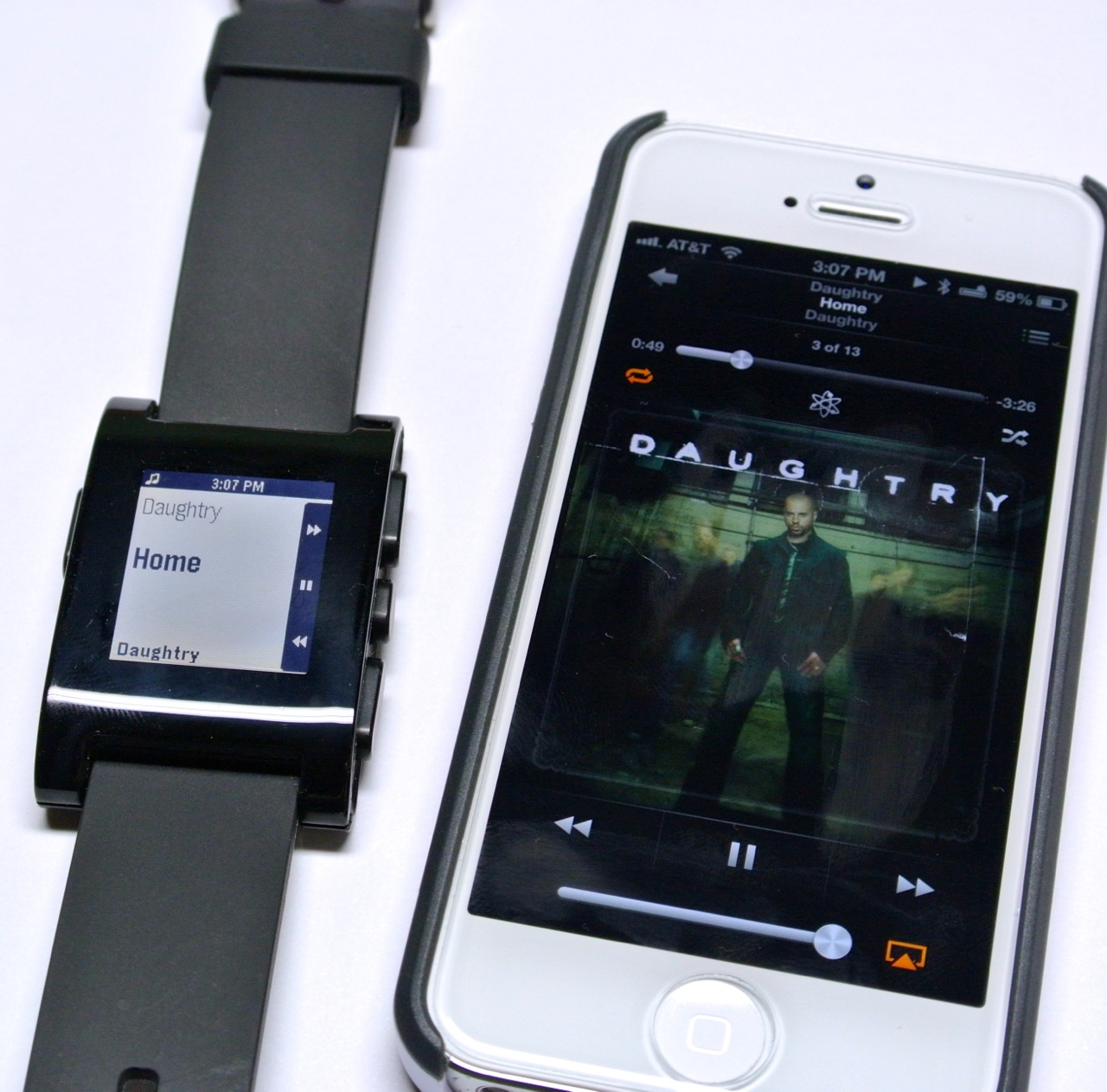 Pebble: e-paper watch for iphone and android by pebble technology.