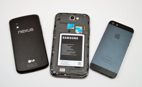The Galaxy Note 2 uses a removable battery.