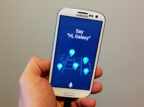 The Samsung Galaxy S3 and Galaxy Note 2 can run S Voice from the Galaxy S4 with S Voice Drive.