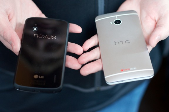 The HTC One will arrive later this month to battle other Android phones like the Nexus 4.