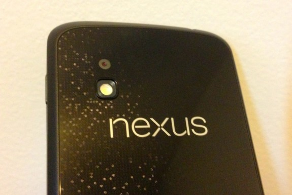 Older Nexus 4 models feature more space around the camera sensor.