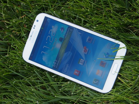 The Galaxy Note 2 has a massive 5.5-inch 720p display.