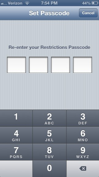 Re-enter Passcode