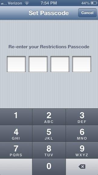 Re-enter Passcode