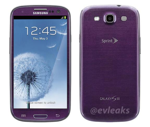 Leaks point to a purple Samsung Galaxy S3 on Sprint in Mid April, weeks ahead of the Samsung Galaxy S4 release.