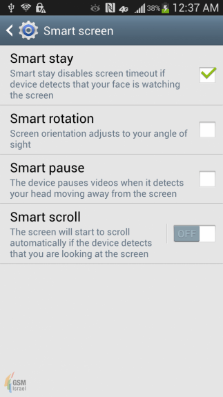 Samsung Galaxy S4 Features Screenshot - AT&T