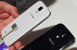The Samsung Galaxy S4 comes in black and white with an all plastic design.