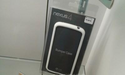 A white Nexus 4 bumper is on sale in Canada.