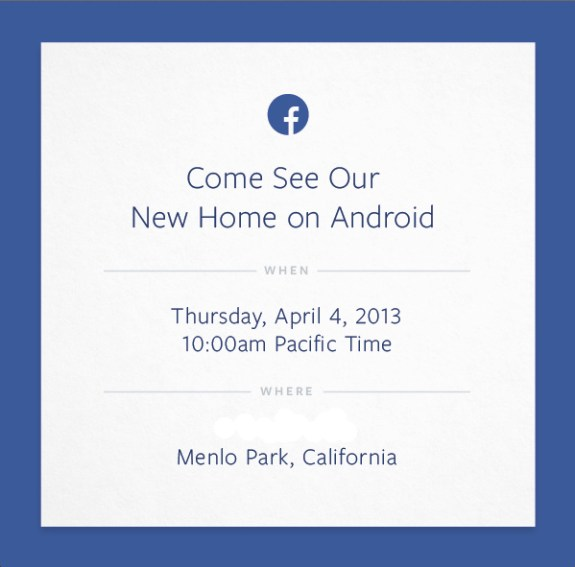 Facebook may reveal its Facebook Phone on April 4th.