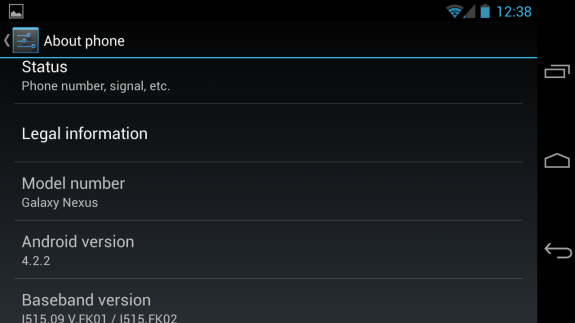 The Verizon Galaxy Nexus Android 4.2 update finally rolled out.
