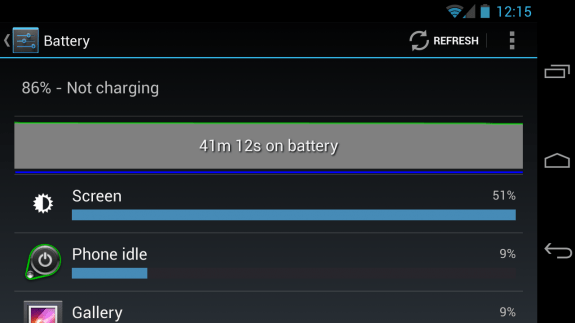 Galaxy Nexus battery life still leaves something to be desired.