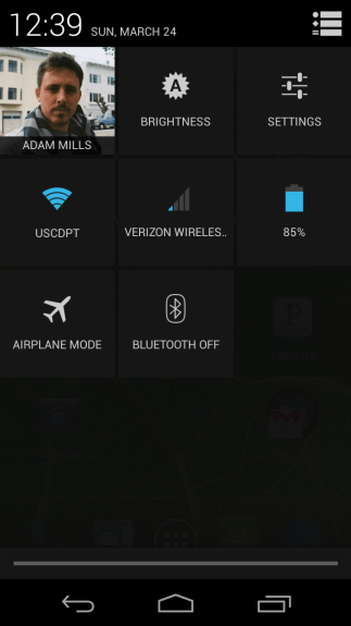 Android 4.2's Quick Settings is extremely useful.