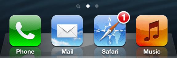No app, no problem. This iOS 7 concept includes web notifications in Safari.