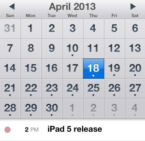 Many iPad 5 release dates are rumored.
