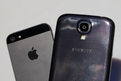 The Galaxy S4 is thin, not as thin as the iPhone 5, but thin.