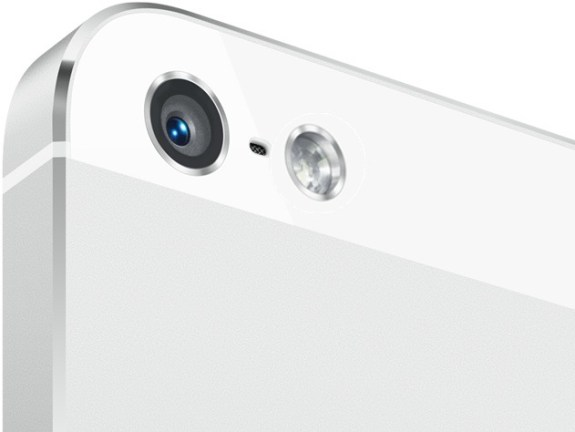 Apple could stack a dual-LED flash with a slightly larger flash next to on the back of the iPhone 5S.
