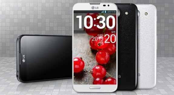The Galaxy Note 2 may soon have to battle the Optimus G Pro on AT&T.