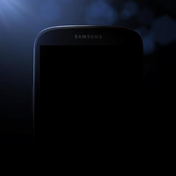 Samsung released this image, which could be the Galaxy S4.