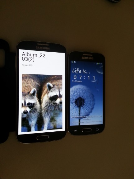 The Galaxy S4 and the Galaxy S4 Mini.