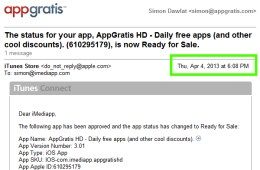Apple approved the AppGratis iPad app just days before pulling from the App Store
