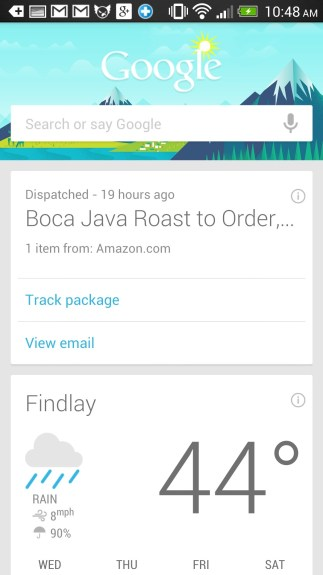 HTC One Setup - Turn on and fine tune Google Now.