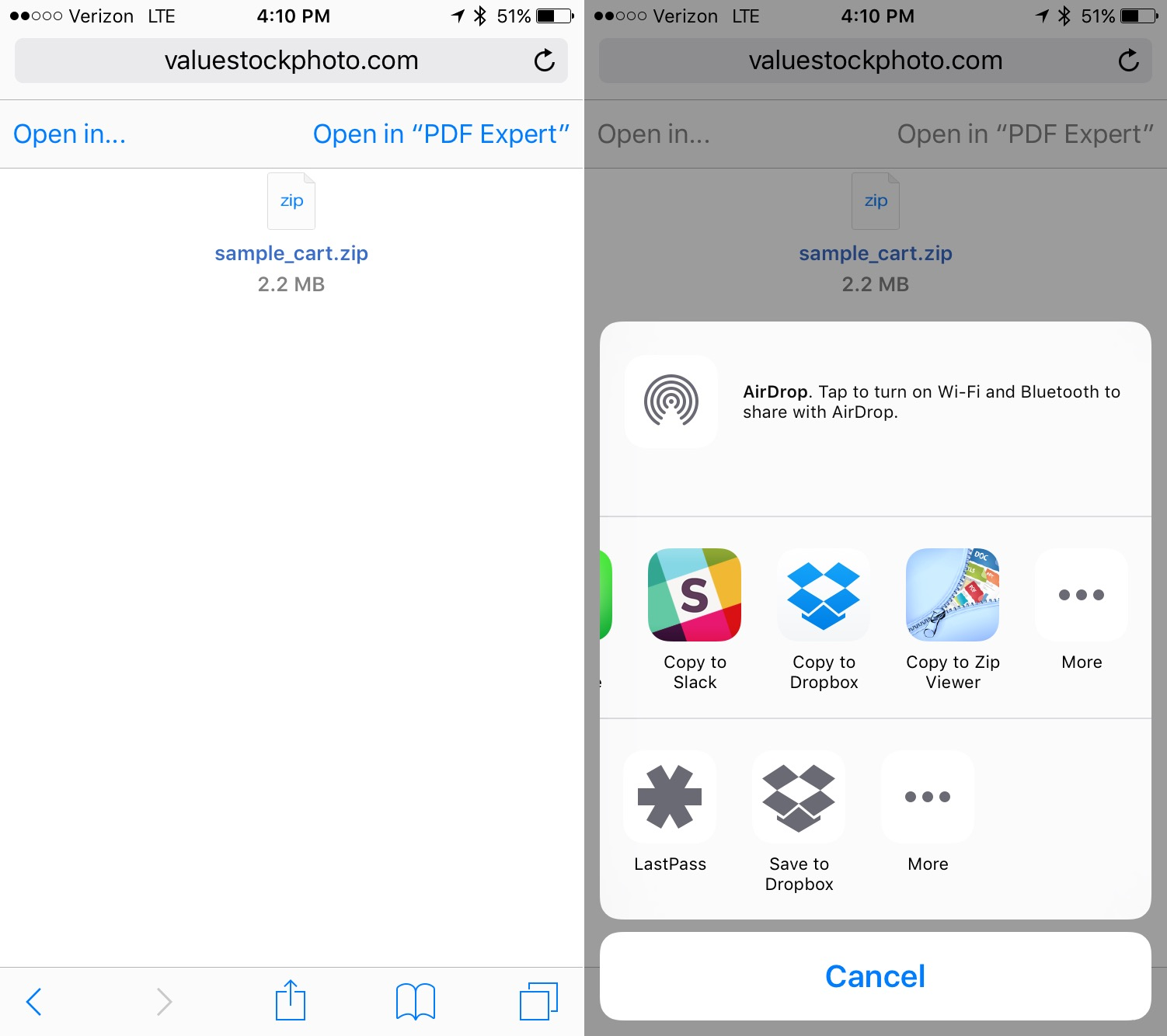 How to Download and Open Zip Files on the iPhone