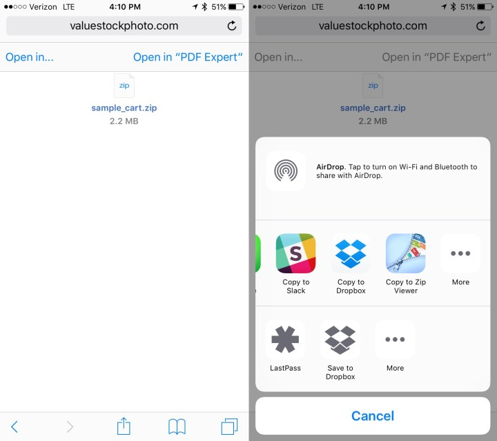 How to open zip files on iPhone or iPad.