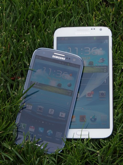 The Galaxy Note 3 display will likely be large, possibly larger than the Galaxy Note 2.