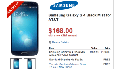 The first big Samsung Galaxy S4 deal arrives days ahead of the release.