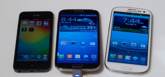 The Samsung Galaxy S4 replaces the Galaxy S3 as the main iPhone 5 competitor.