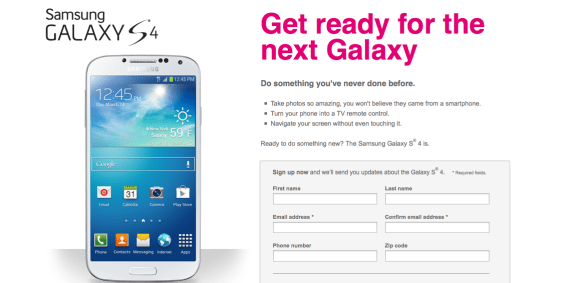 The T-Mobile Galaxy S4 is the only one with a release date in the U.S.