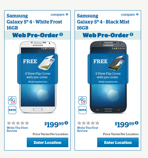 U.S. Cellular isn't offering up the 32GB Galaxy S4. Yet.