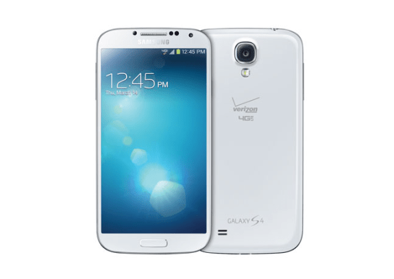 The Verizon Galaxy S4 has appeared today, without a branded home button.