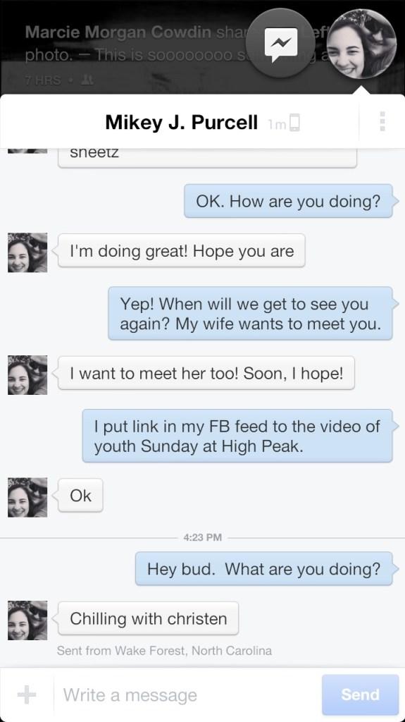 facebook home messenger window