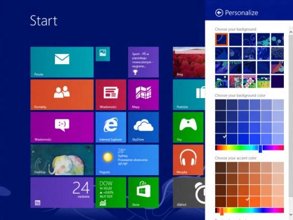 Windows 8.1 start screen