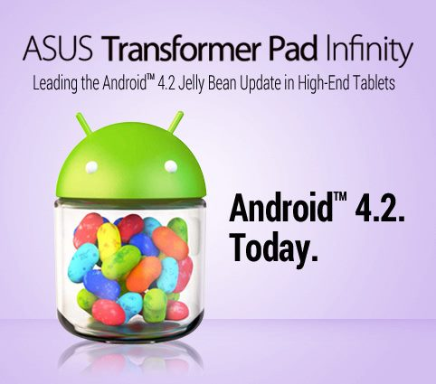 Asus has rolled out the Transformer Pad Infinity Android 4.2 update today.