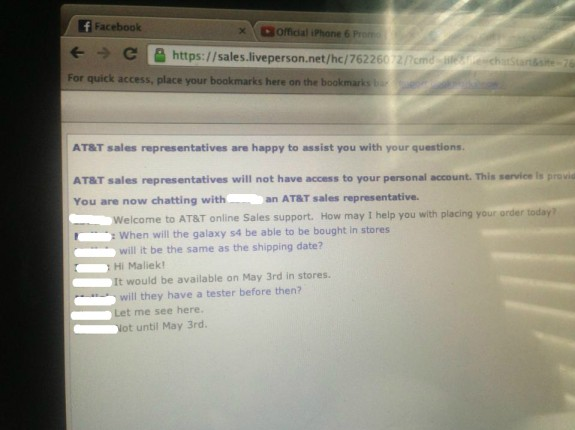 Will the AT&T Galaxy S4 arrive on May 3rd? Who knows.