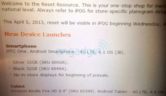 Information suggests that AT&T will offer it as soon as April 4th.