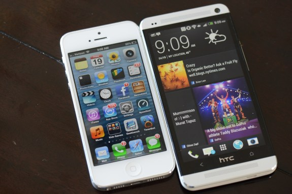 Apple could draw soem inspiration from Android and WIndows Phone in a flatter, glance-able iOS 7 according to rumors.
