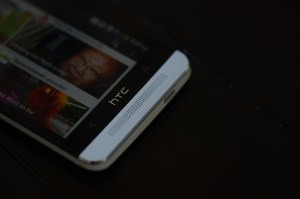 The HTC One features a sleek metal design.