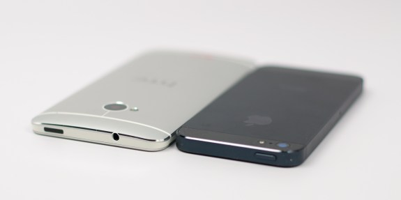 The HTC One features an IR port on the top, turning it into a remote control.