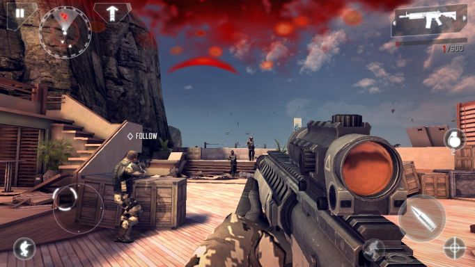 Game play screenshots from Modern Combat 4, coming to Windows Phone 8 with Xbox LIVE-enabled multiplayer.