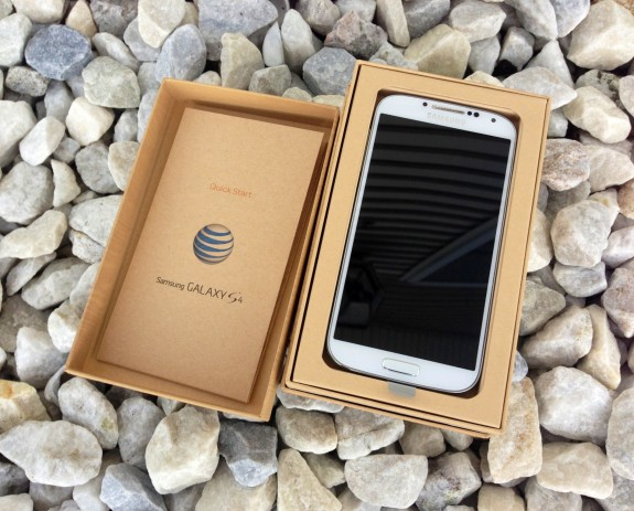 The AT&T is the first Galaxy S4 to land on U.S. soil.