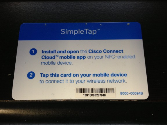 Simple Tap NFC card for Linksys Wireless Router